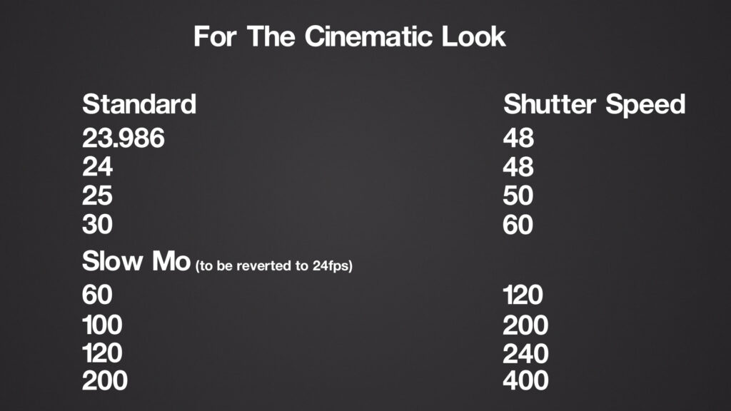 Cinematic Look Shutter